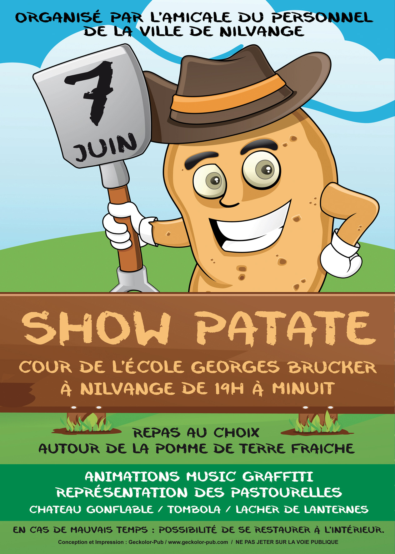 Flyer Show Patate rvb FB
